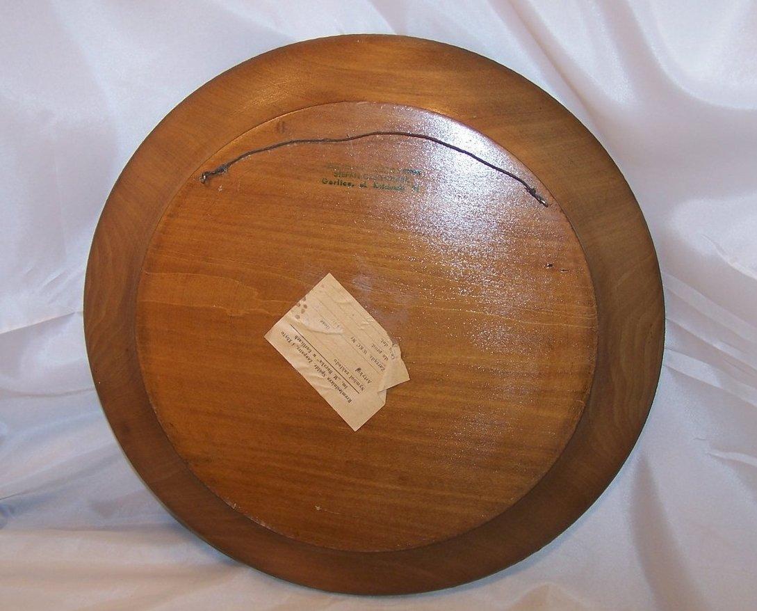 Image 2 of Pyrography Platter, Poland, Woodburned