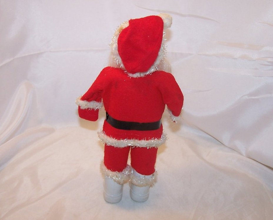 Image 3 of Santa Claus Doll, Figure w Long Beard, White Boots, Vintage