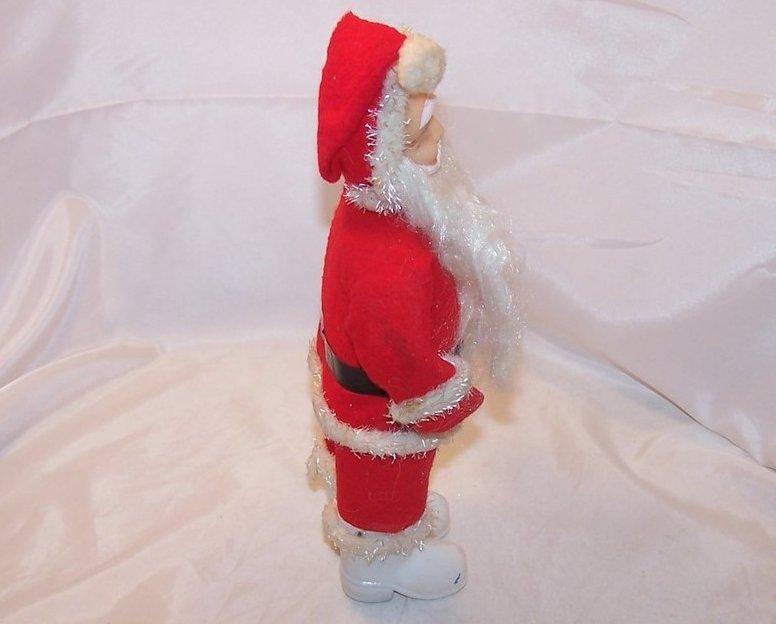 Image 4 of Santa Claus Doll, Figure w Long Beard, White Boots, Vintage