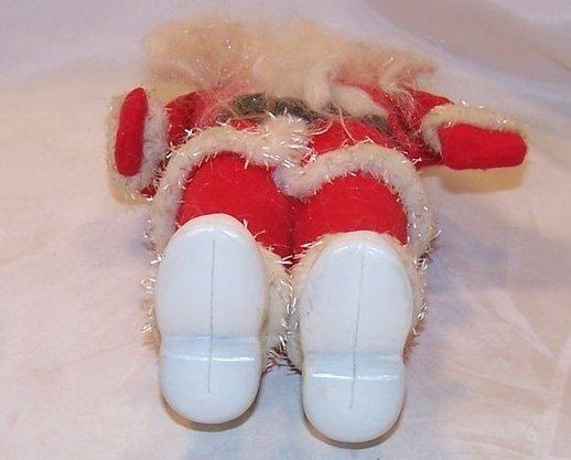 Image 5 of Santa Claus Doll, Figure w Long Beard, White Boots, Vintage