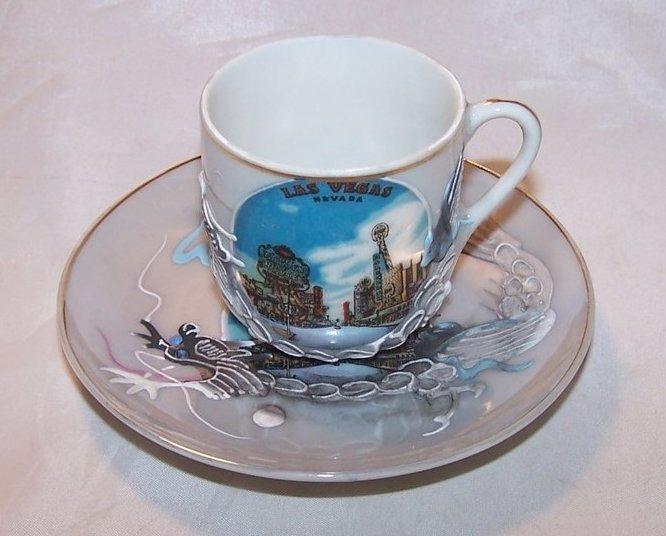 Dragonware Teacup, Tea Cup and Saucer, Las Vegas Souvenir