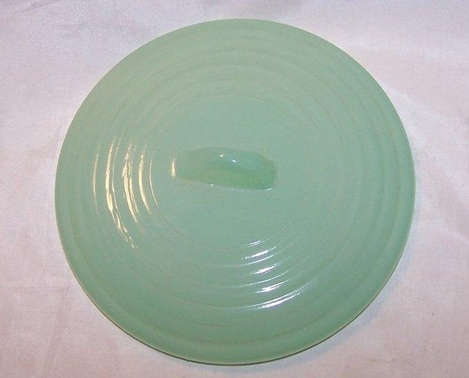 Vintage Green Glass Lid