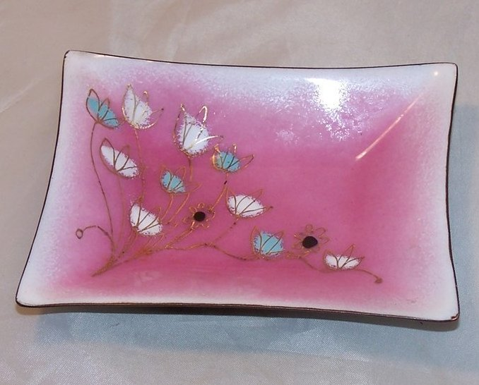 Herb Friedson Signed Enamel Dish, 1957, Cleveland Yachting Club
