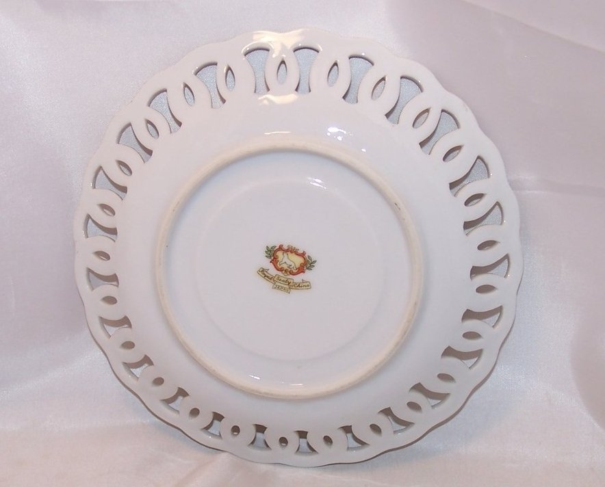 Image 2 of Basketweave Plate with Fruit Center, Royal Sealy China