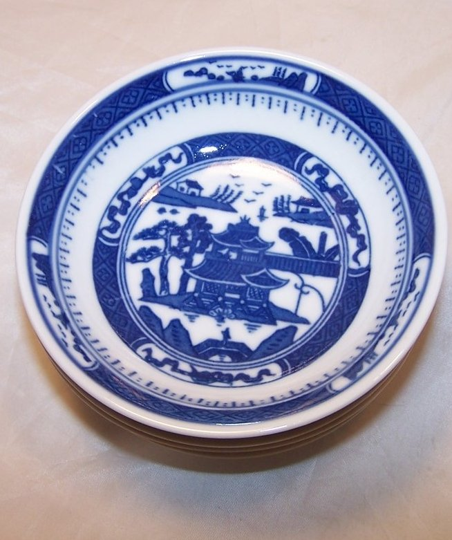 Image 1 of Chinese Dish Set w Spoons, Blue White Porcelain, China