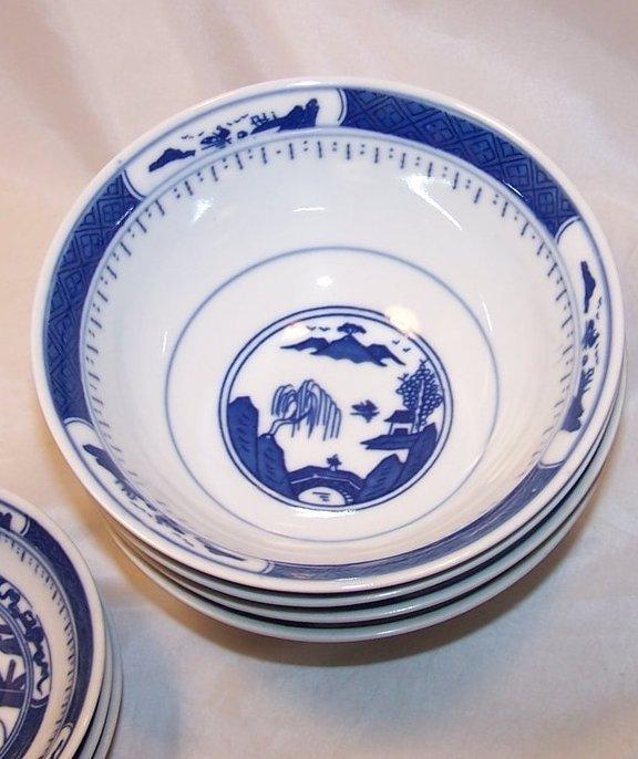 Image 2 of Chinese Dish Set w Spoons, Blue White Porcelain, China