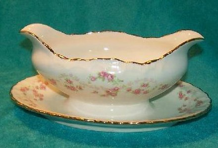 Pope Gosser Gravy Boat w Attached Underplate Florence, China