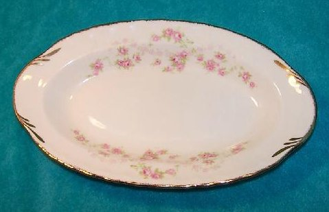 Image 0 of Pope Gosser Underplate, Relish Dish, Florence, Rose Garland