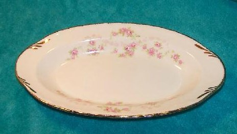 Image 1 of Pope Gosser Underplate, Relish Dish, Florence, Rose Garland