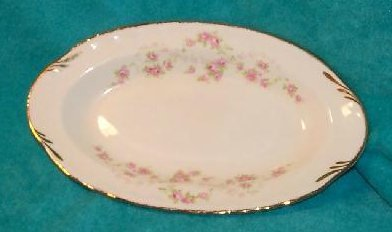 Image 2 of Pope Gosser Underplate, Relish Dish, Florence, Rose Garland