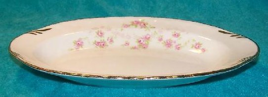 Image 3 of Pope Gosser Underplate, Relish Dish, Florence, Rose Garland