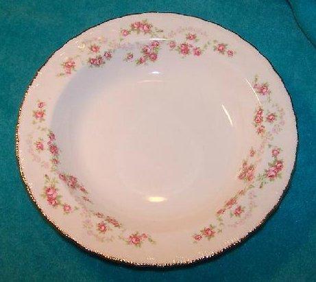 Image 0 of Pope Gosser Round Vegetable Bowl Dish Florence Rose Garland
