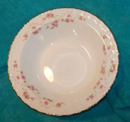 Image 2 of Pope Gosser Round Vegetable Bowl Dish Florence Rose Garland