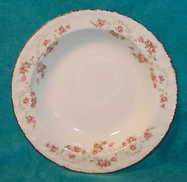 Image 0 of Pope Gosser Soup Bowl Dish, Florence, Pink Rose Garland