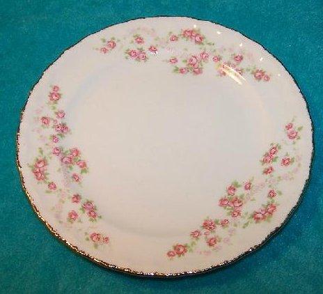 Image 0 of Pope Gosser Dessert Plate Dish, Florence, Pink Rose Garland