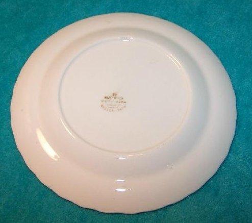Image 1 of Pope Gosser Dessert Plate Dish, Florence, Pink Rose Garland