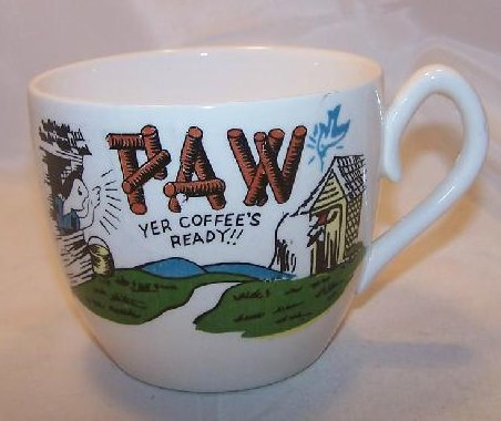 Paw Hillbilly Coffee Cup, Mug w Bluebird