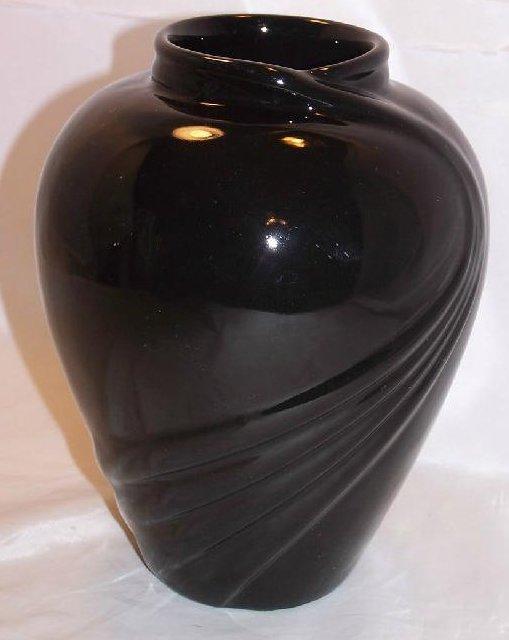 Haeger Black Swirl Vase Salesman Sample