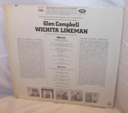 Image 1 of Wichita Lineman, Glen Campbell Record, Capitol Records