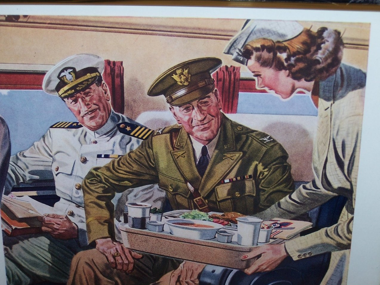 Image 1 of American Airlines, Military Vintage Print Ad Authentic