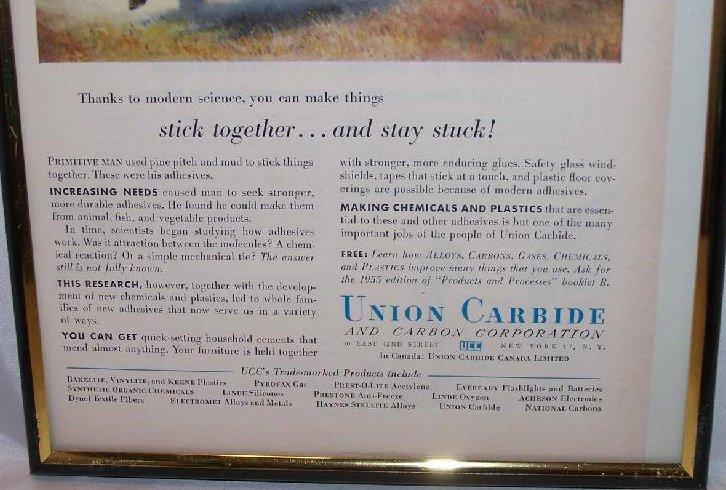 Image 2 of Union Carbide Glue Vintage Print Ad Authentic, 1955