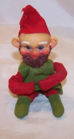 Elf for Your Shelf, Green w Red Trim and Beard, Japan