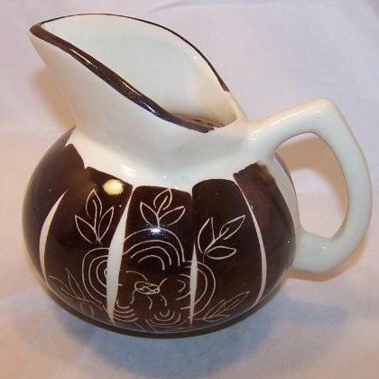 Image 0 of Purinton Pottery Intaligo Kent Jug Pitcher William Blair