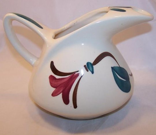 Purinton Pottery Dutch Jug Ivy Red Blossom Dutch Pitcher