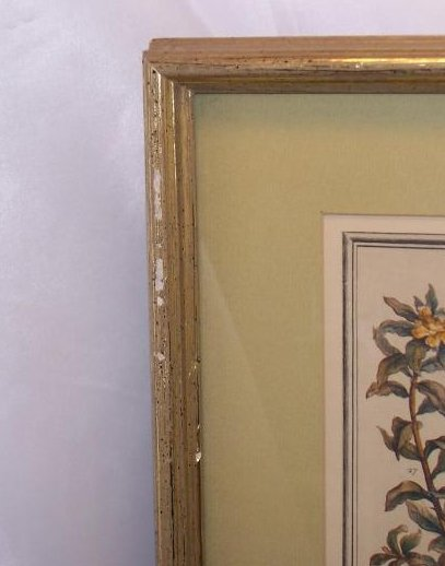 Image 1 of     December Bouquet, Furber, Victorian Repro Lithograph, Framed