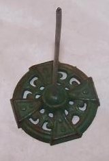 Image 2 of Bill, Note, Receipt Spike on Green Cast Iron Base, Antique
