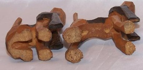 Image 4 of Howling Hunting Hound Dogs, Hand Carved Wood, Folk Art
