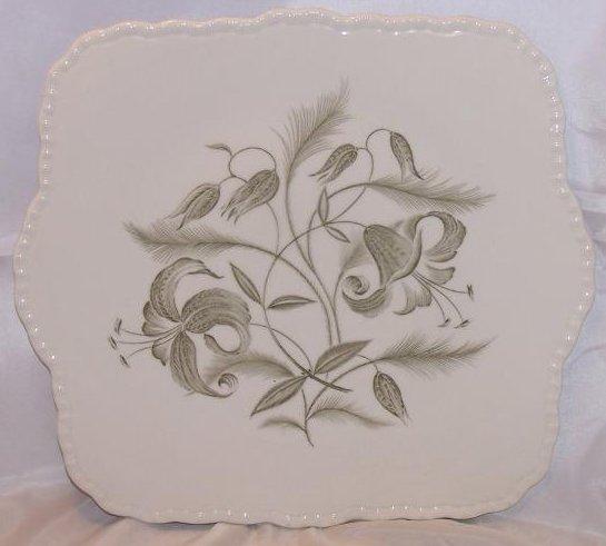 Grindley Florentine Lily, Handled Cake Plate, England