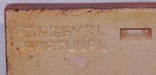 Image 2 of Gresvfl Portugal Tile, Ceramic, Brown, Blue Flower