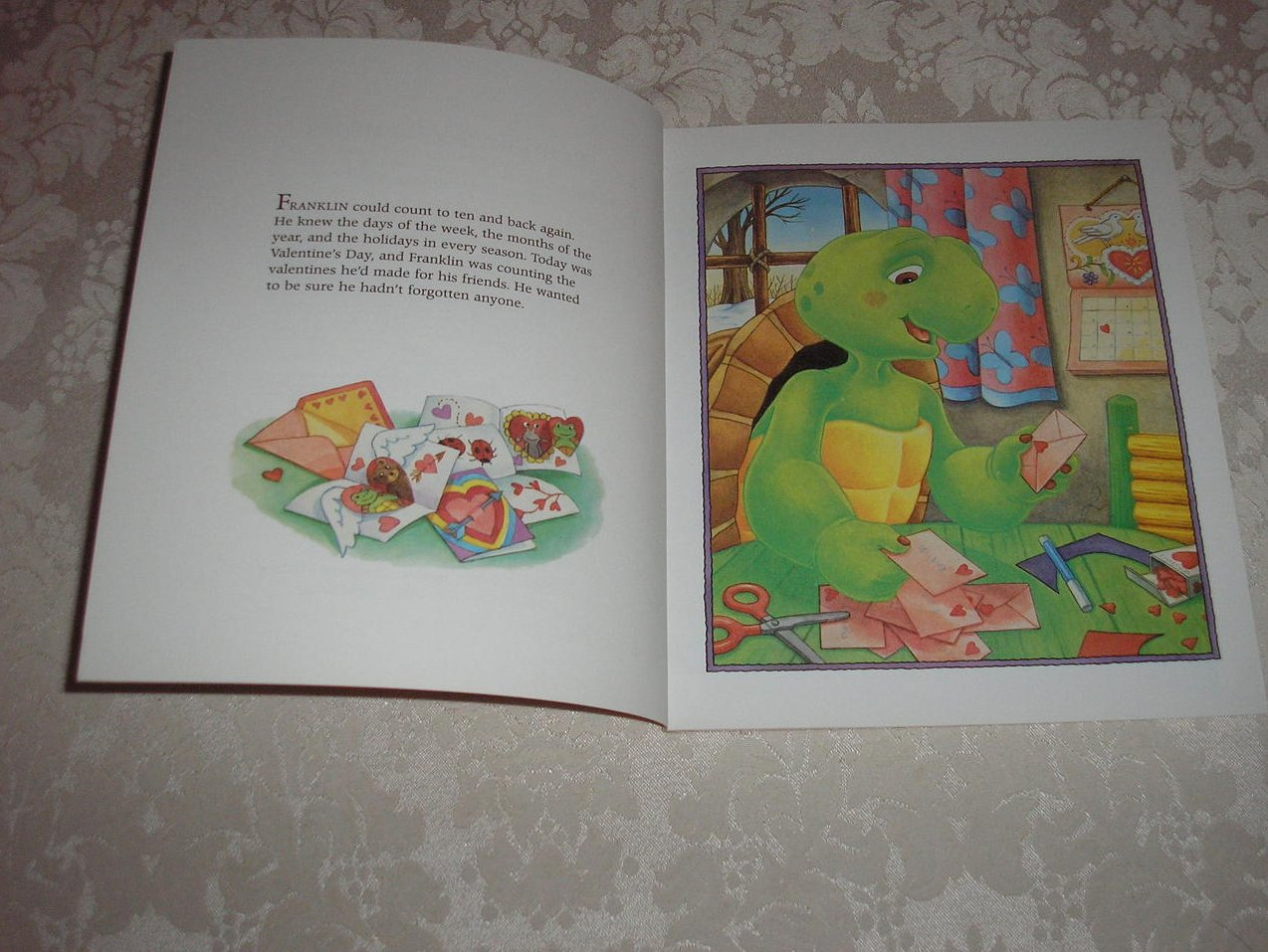 Image 2 of Franklin's Valentines Paulette Bourgeois Like New Softcover