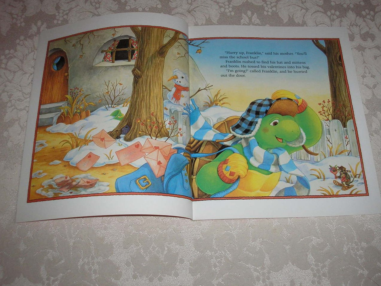 Image 3 of Franklin's Valentines Paulette Bourgeois Like New Softcover