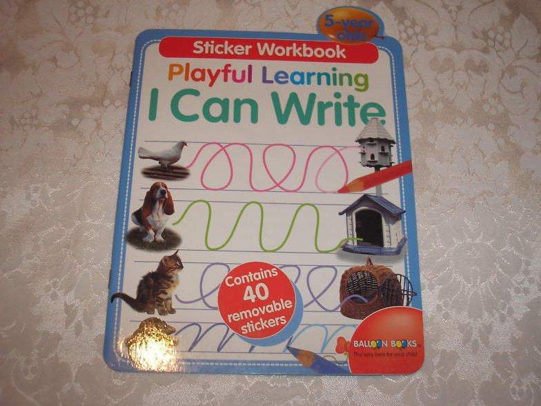 I Can Write brand new cursive sticker workbook