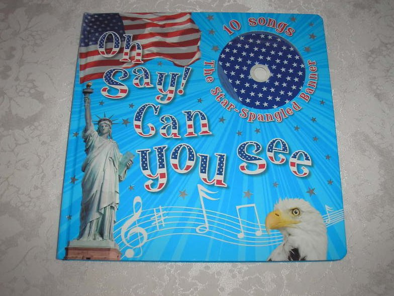 Image 0 of Oh Say! Can You See Francis Scott Key brand new large board book, CD, USA Poster