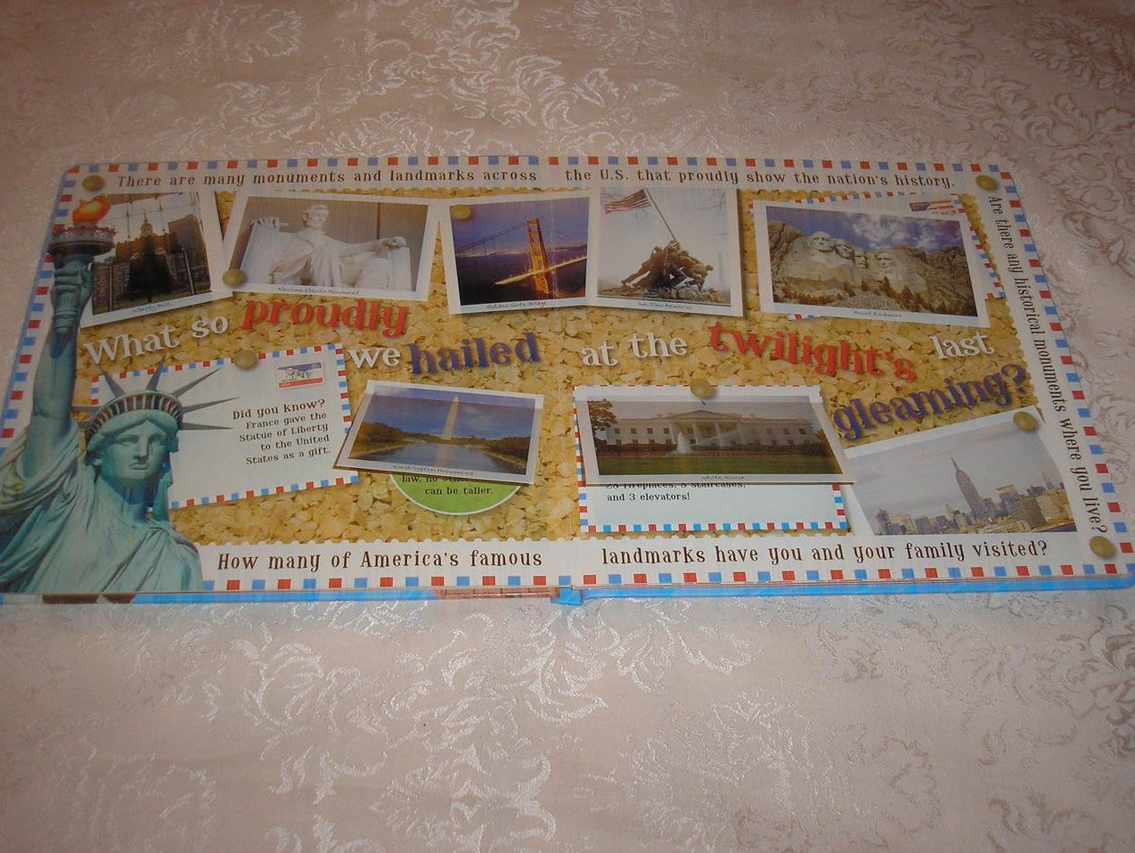 Image 2 of Oh Say! Can You See Francis Scott Key brand new large board book, CD, USA Poster