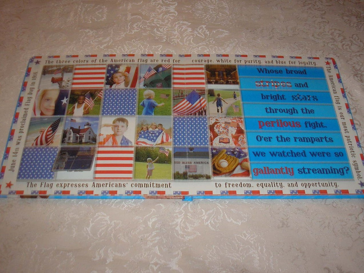 Image 3 of Oh Say! Can You See Francis Scott Key brand new large board book, CD, USA Poster