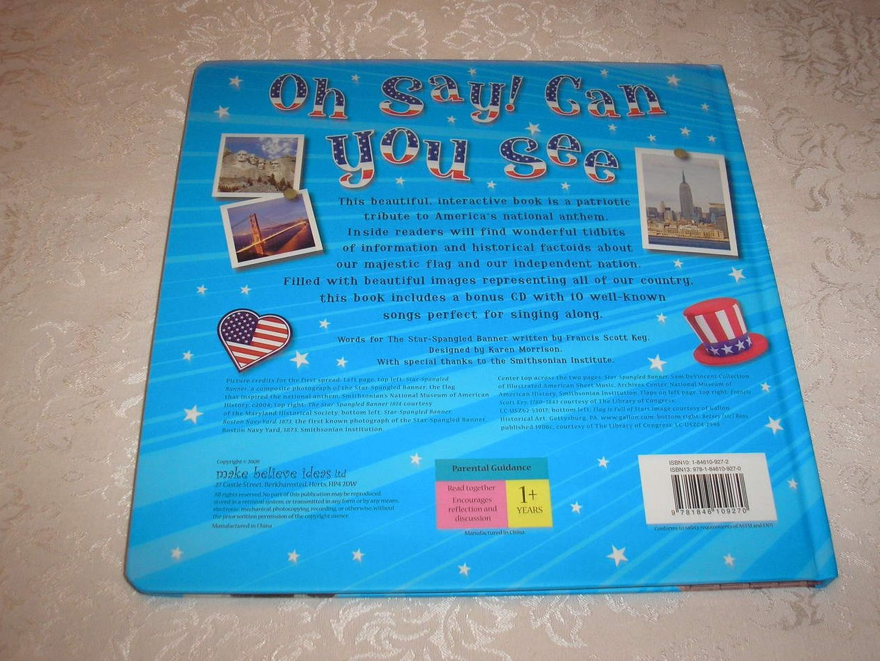 Image 4 of Oh Say! Can You See Francis Scott Key brand new large board book, CD, USA Poster