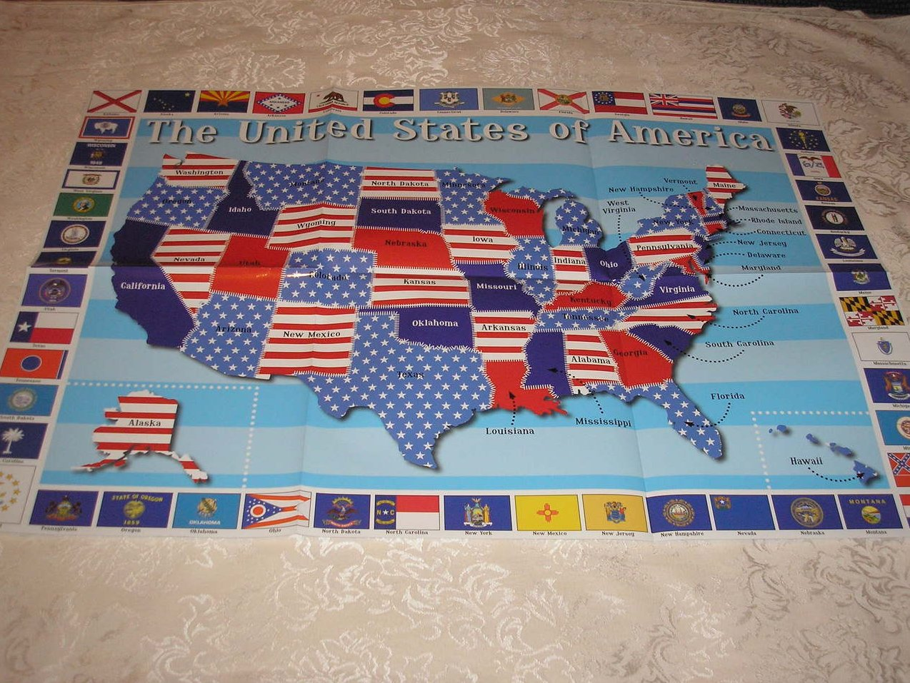 Image 5 of Oh Say! Can You See Francis Scott Key brand new large board book, CD, USA Poster