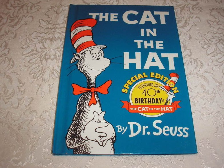 The Cat In The Hat 40th Birthday Edition Dr. Seuss like new rare hc
