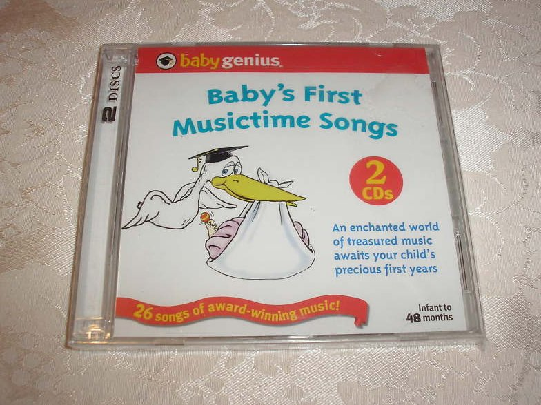 Baby's First Musictime Songs Baby Genius new sealed CDs
