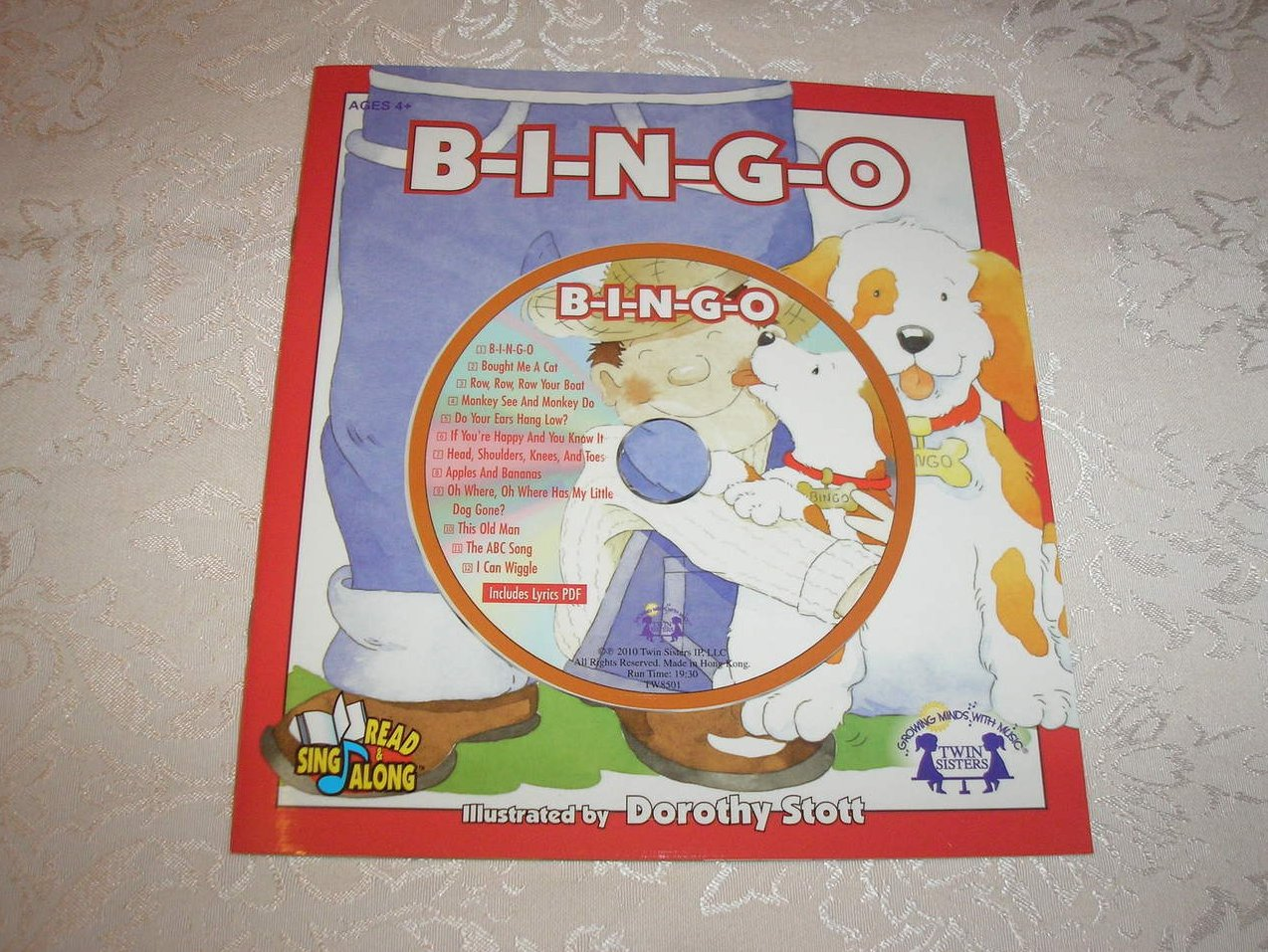 Twin Sisters BINGO Sing & Read sc and Audio CD