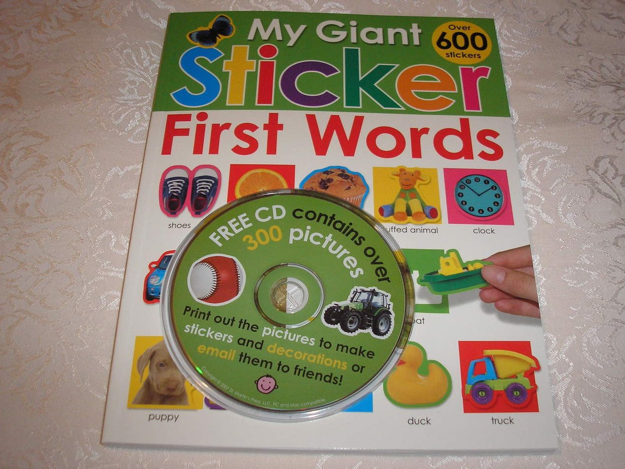 My Giant Sticker Book First Words with CD and 600+ stickers brand new