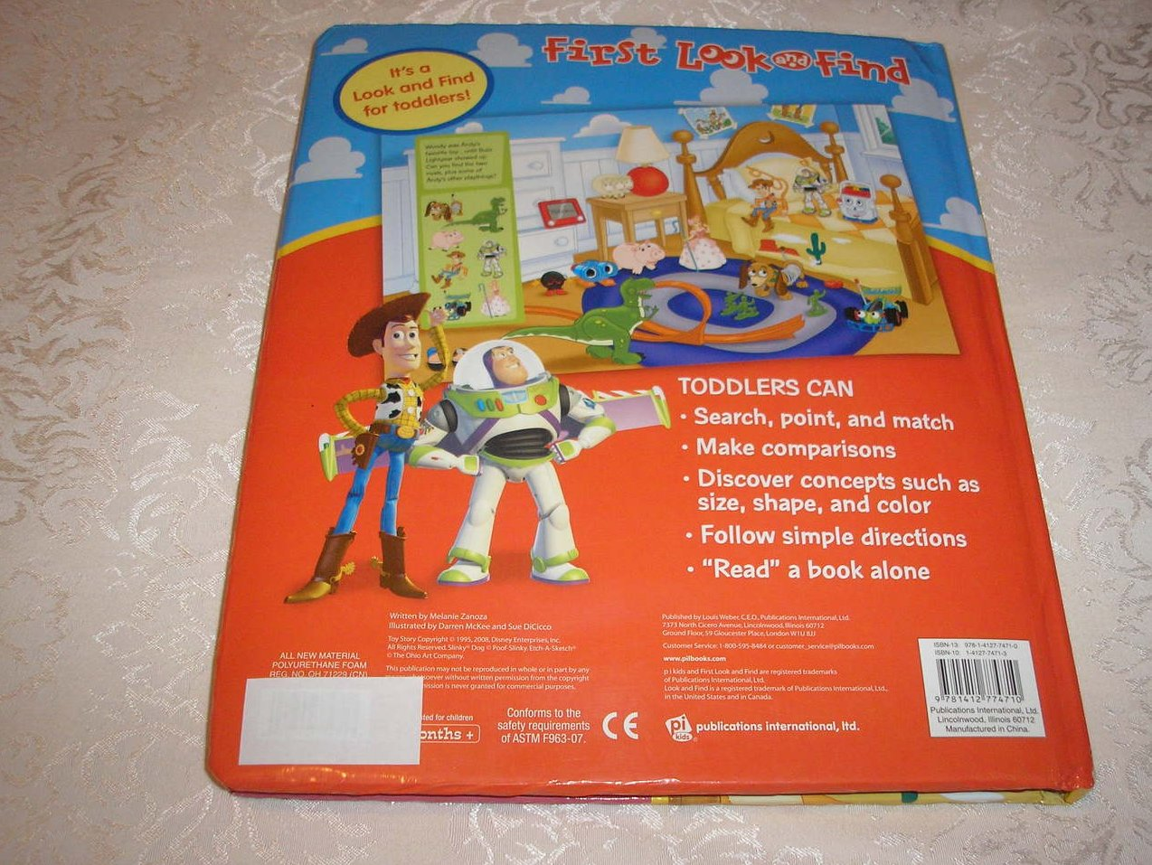 Image 4 of Disney Pixar Toy Story Look and Find padded board book