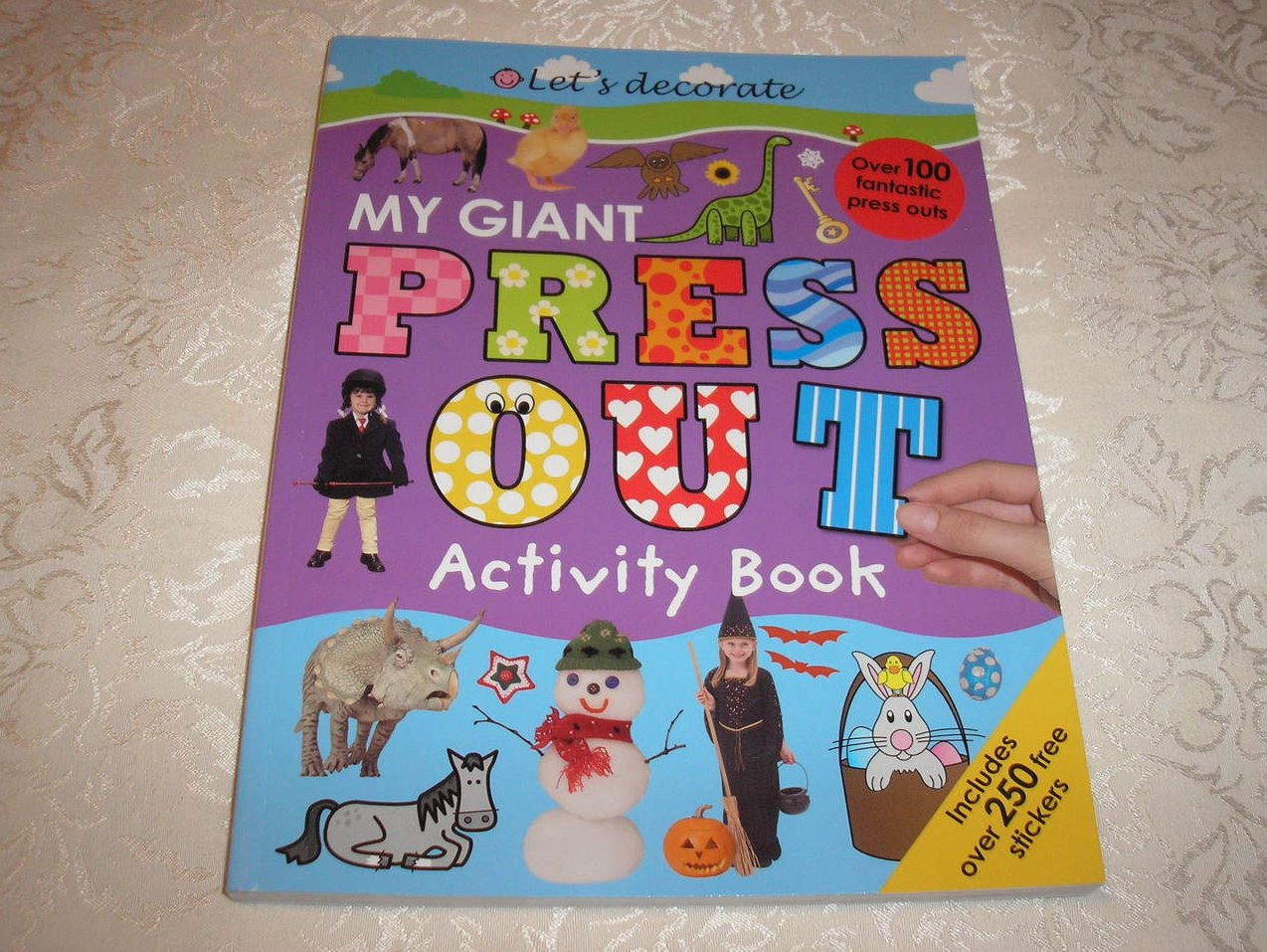 My Giant Press Out Activity Book with crafts and stickers brand new