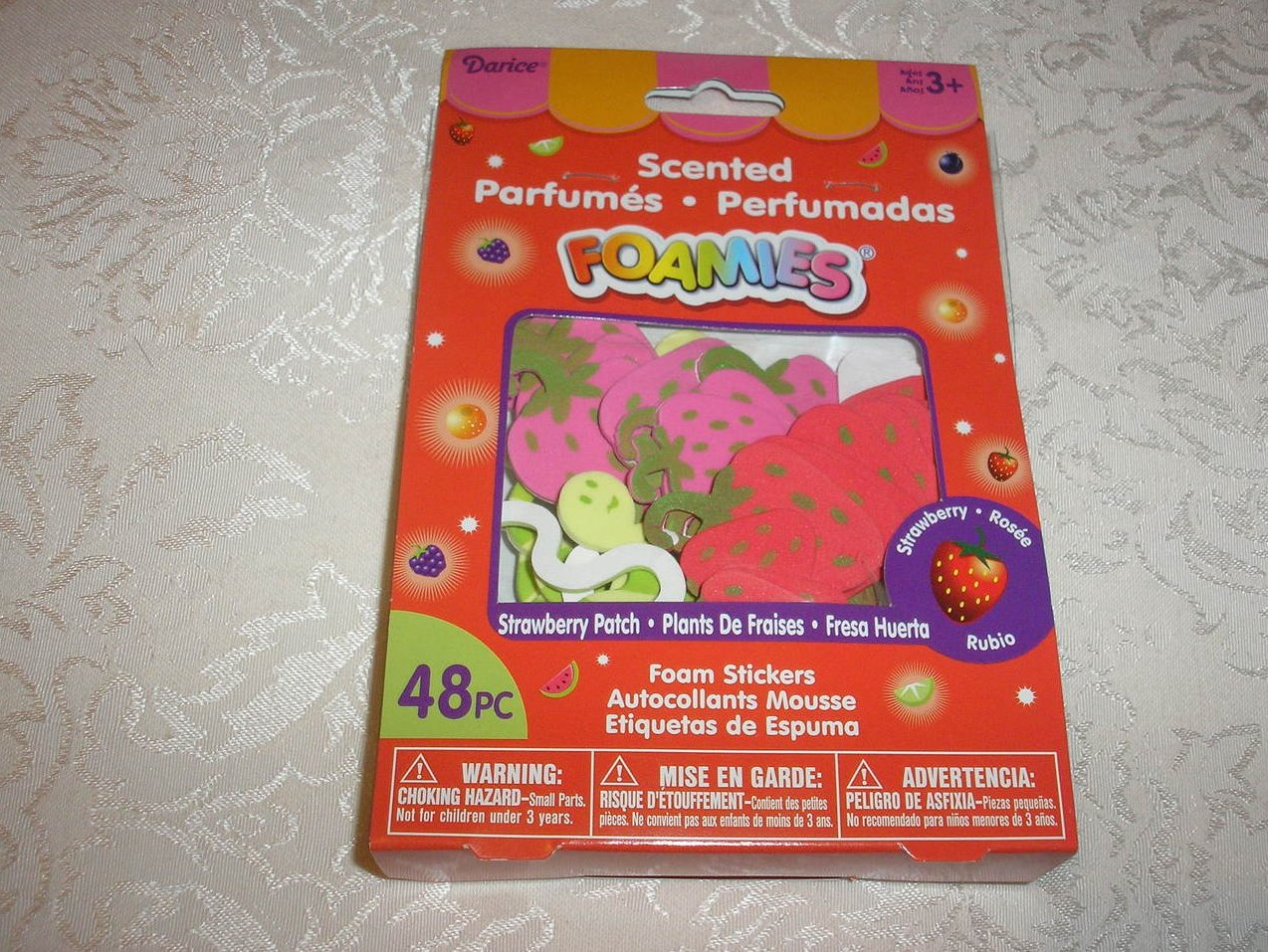 48 Pieces Scented Strawberry Foamies Stickers new in package