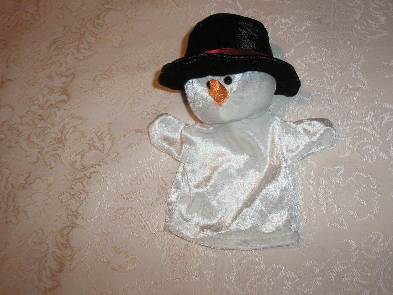 Frosty Snowman Hand Puppet 9 inches like new condition
