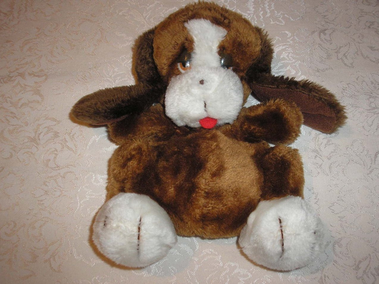 Plush Dog Hand Puppet 11 inches long good used clean